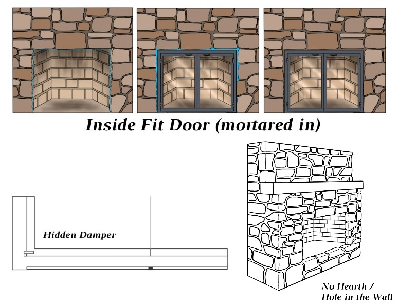 Inside Fit - Hidden Damper - Raised Hearth