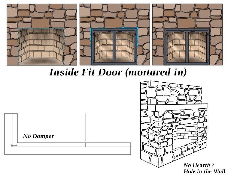 Inside Fit - No Damper - No Hearth