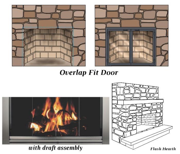 Overlap Fit - Draft Assembly - Flush Hearth