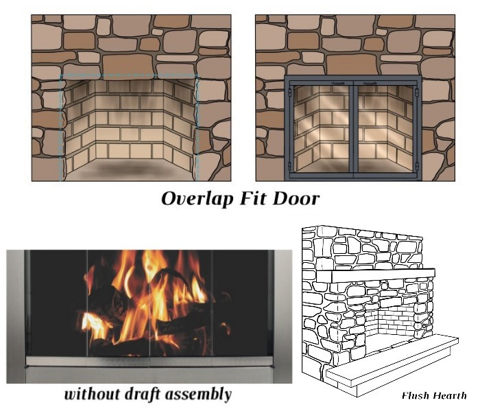 Overlap Fit - No Draft Assembly - Flush Hearth