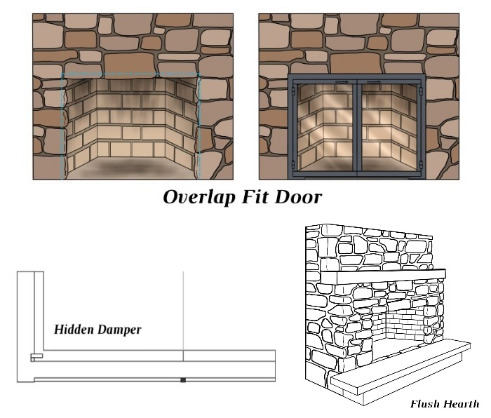 Overlap Fit - Hidden Damper - Flush Hearth