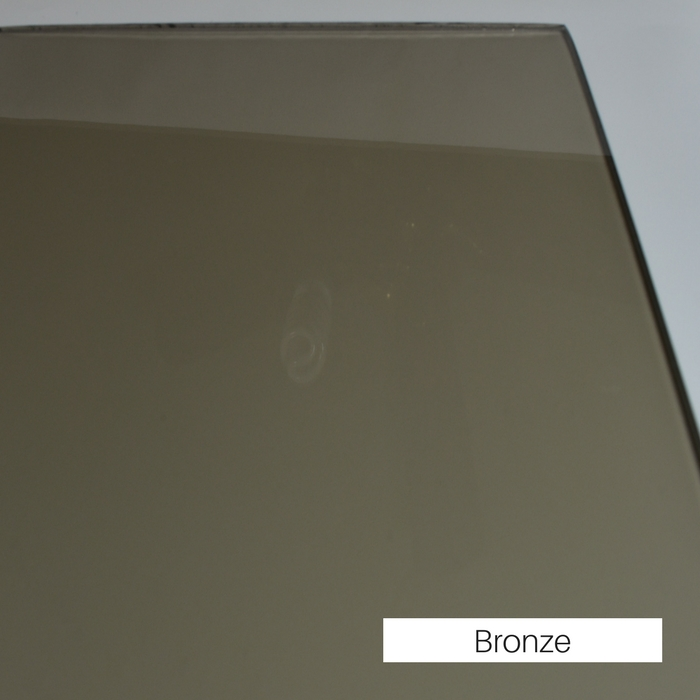 Bronze tinted tempered glass