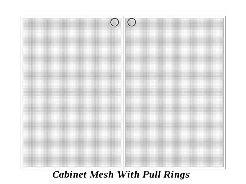 Cabinet Mesh with Pull Rings