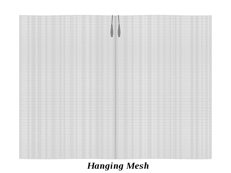 Stainless Steel Curtain Rod with Hanging Mesh
