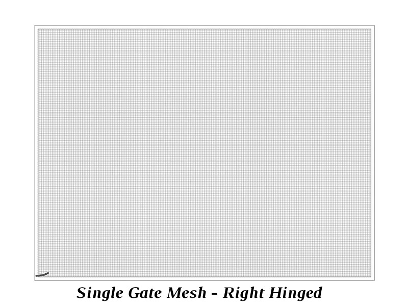 Single cabinet mesh - right hinged