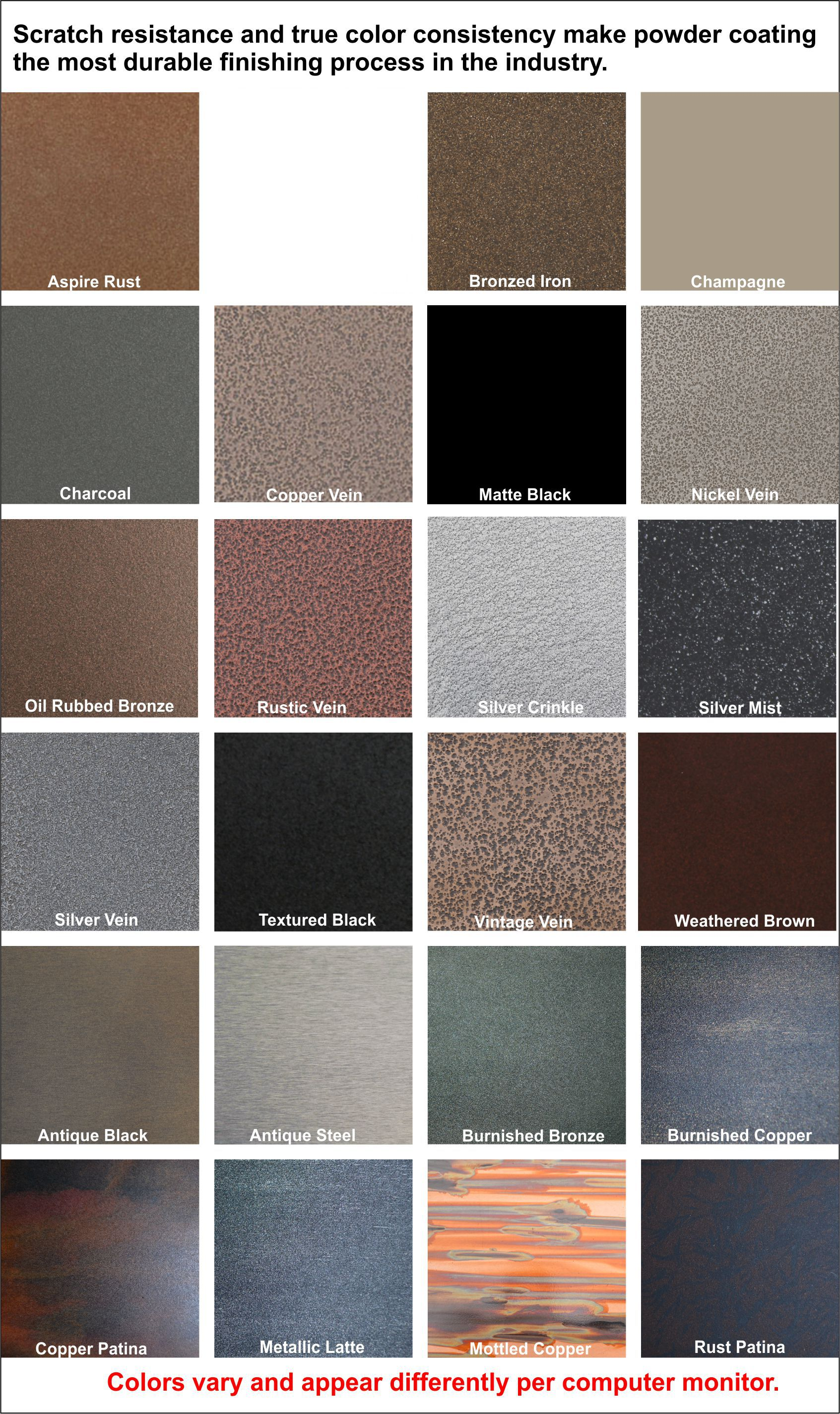 What color finish for your fireplace doors?