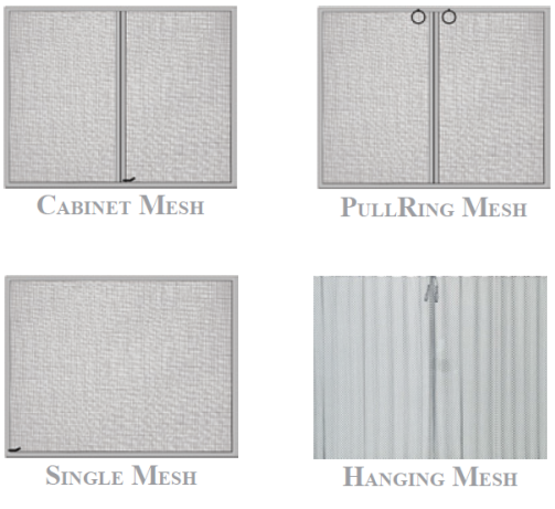 Which type of fireplace mesh would you like?