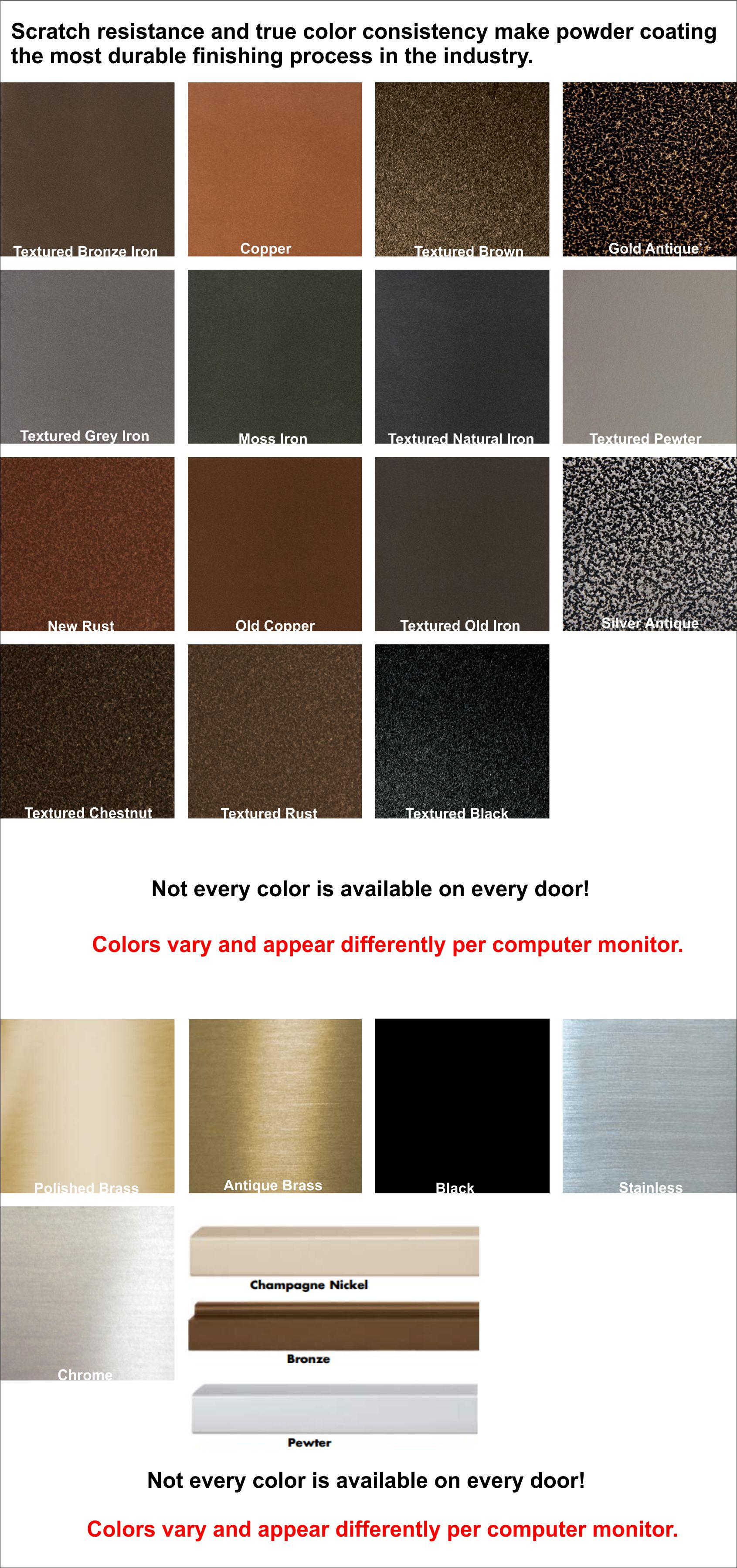 What color finish would you like for your fireplace doors?