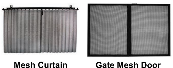 Which type of mesh would you like for your fireplace door?