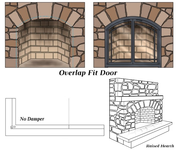 Overlap Fit - No Damper - Raised Hearth