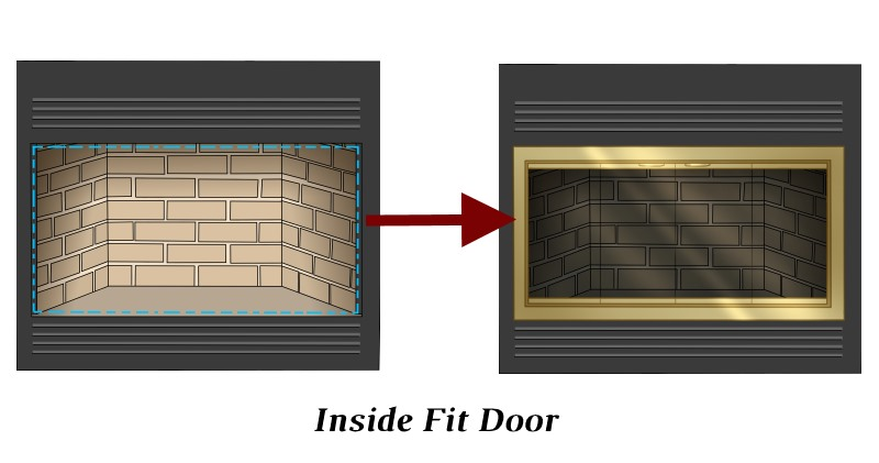 This is an inside fit zero clearance door.