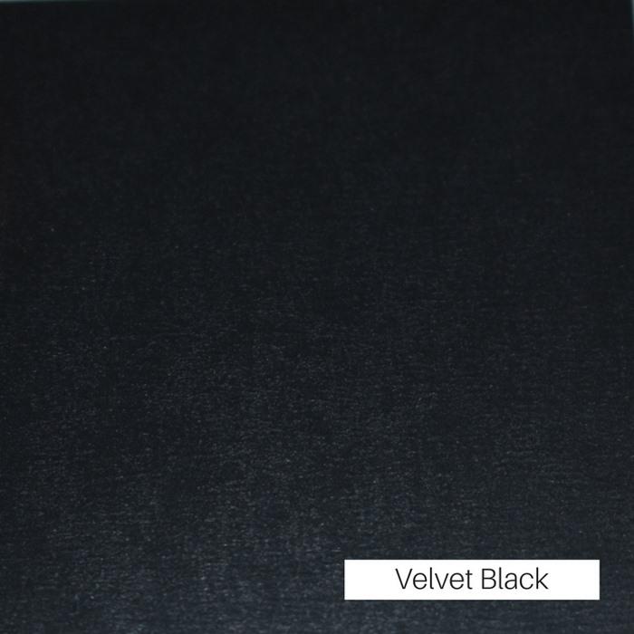 Black Velvet Finish
