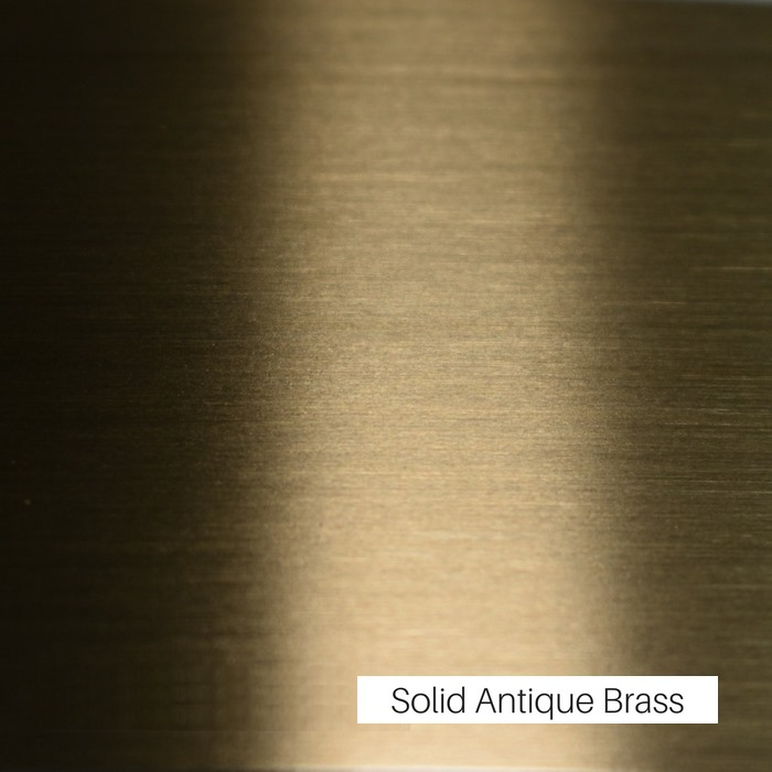 Solid Antique Brass Finish