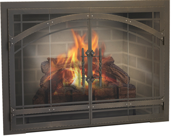Design Specialties Forged Iron Fireplace Door For Masonry Fireplaces