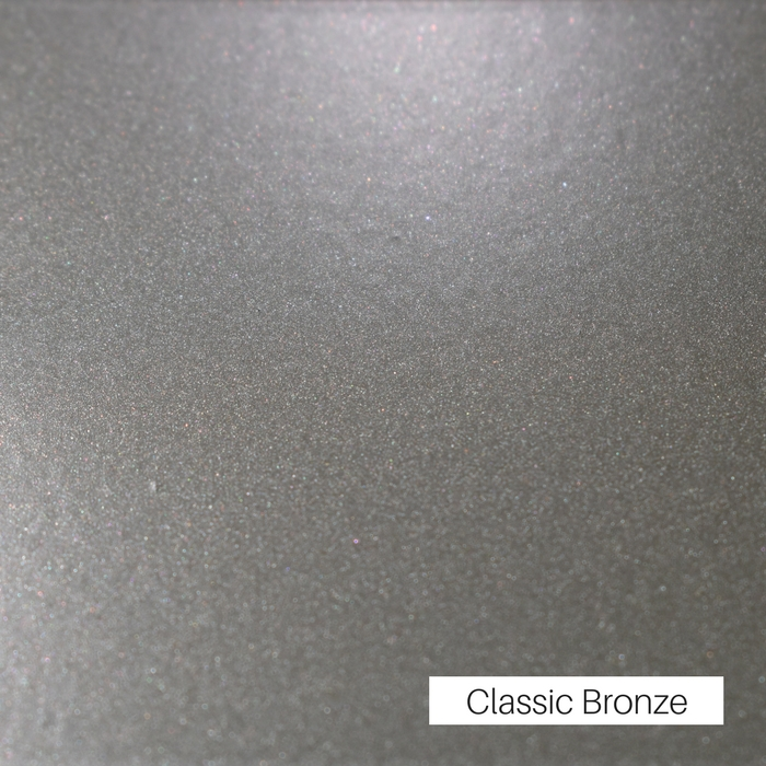 Classic Bronze powder coat finish