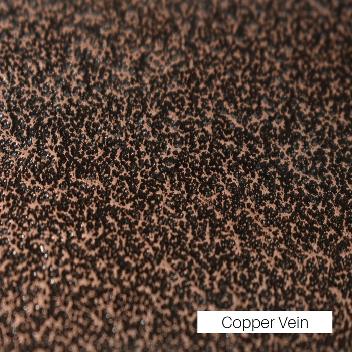 Copper Vein powder coat finish