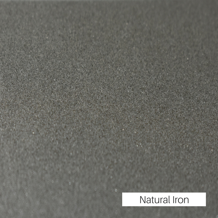 Natural Iron powder coat finish