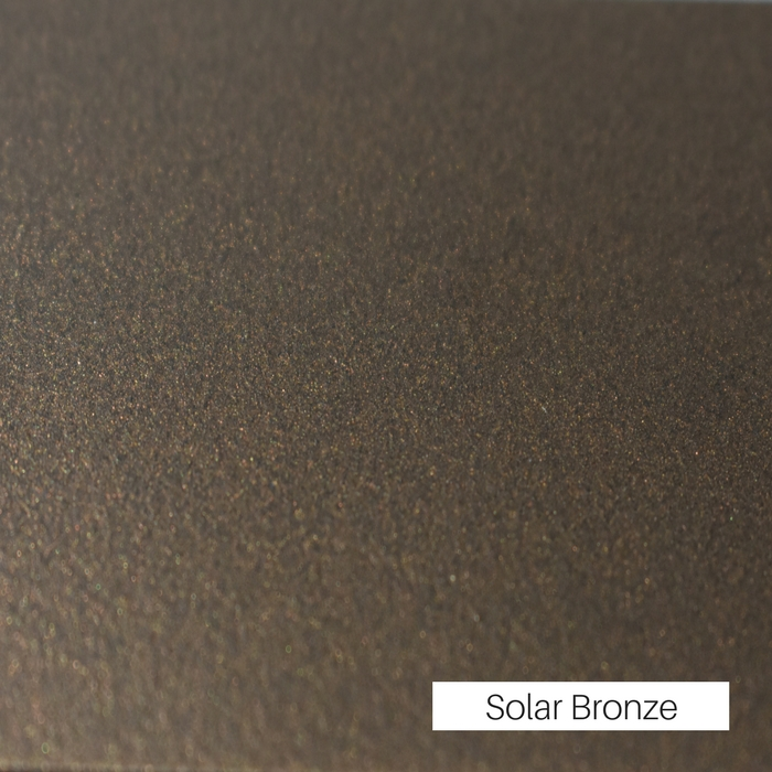 Solar Bronze powder coat finish