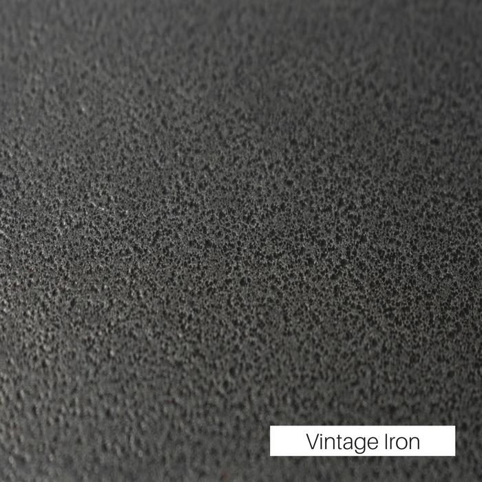 Vintage Iron powder coat finish