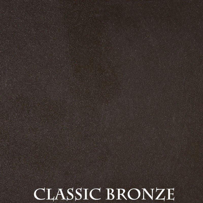 Classic Bronze powder coat finish for fireplace doors
