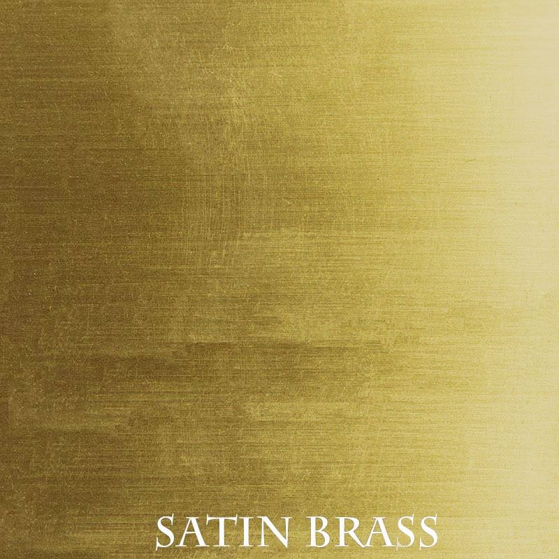 Satin Brass Anodized finish for fireplace doors