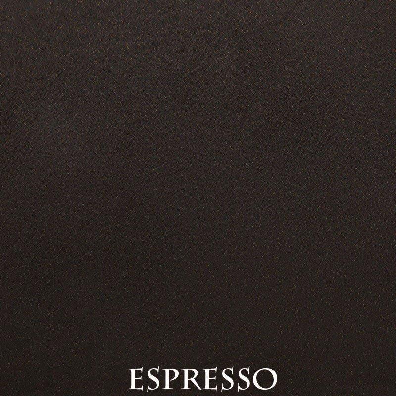 Espresso powder coat finish for fireplace doors