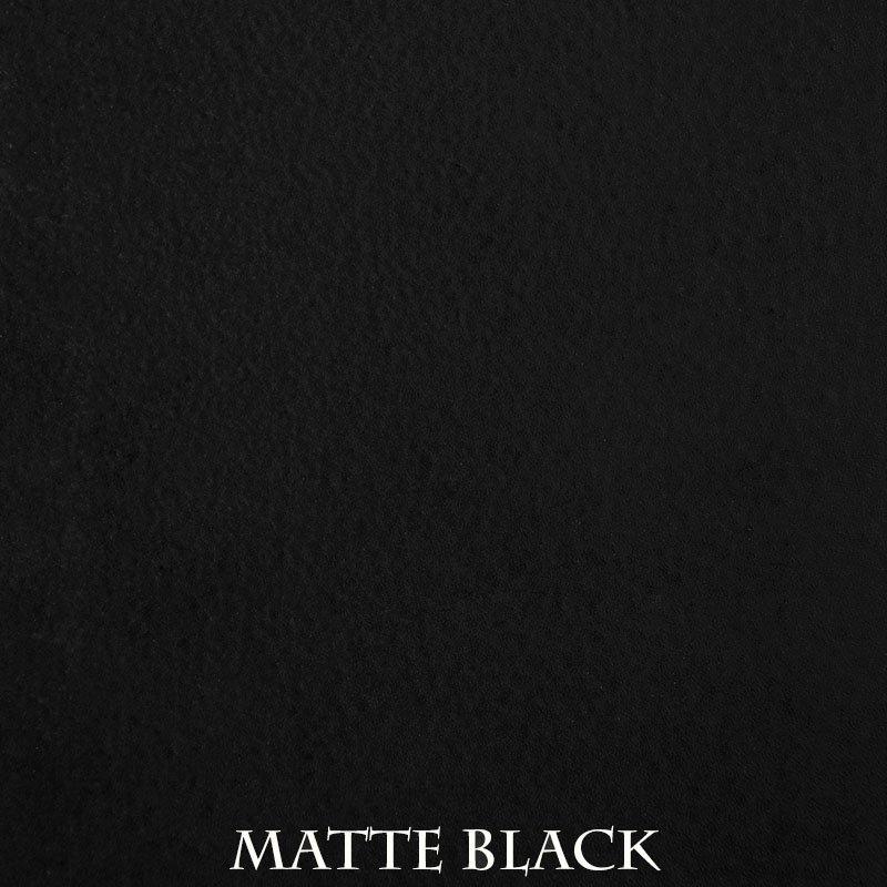 Matte Black powder coat finish for fireplace doors