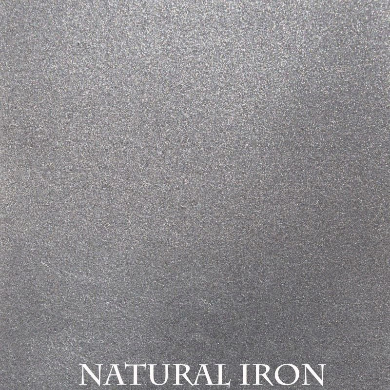 Silver powder coat finish for fireplace doors