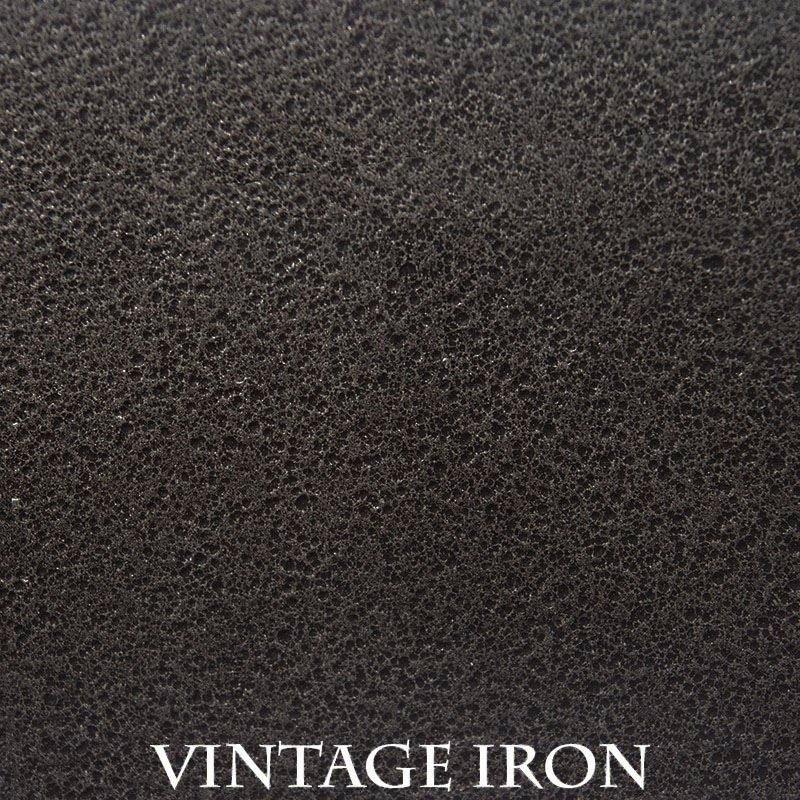 Vintage Iron powder coat finish for fireplace doors