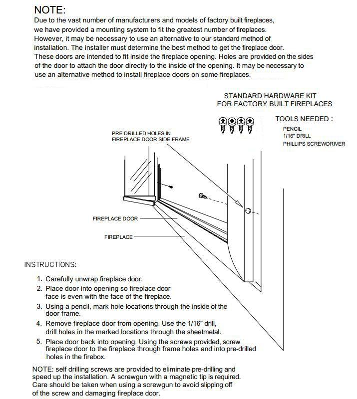 How To Install Fireplace Door