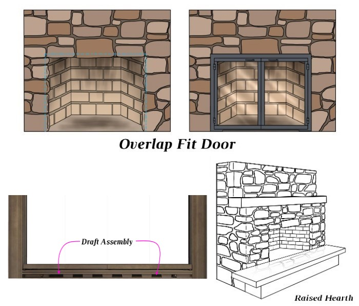 Overlap Fit - Draft Assembly - Raised Hearth