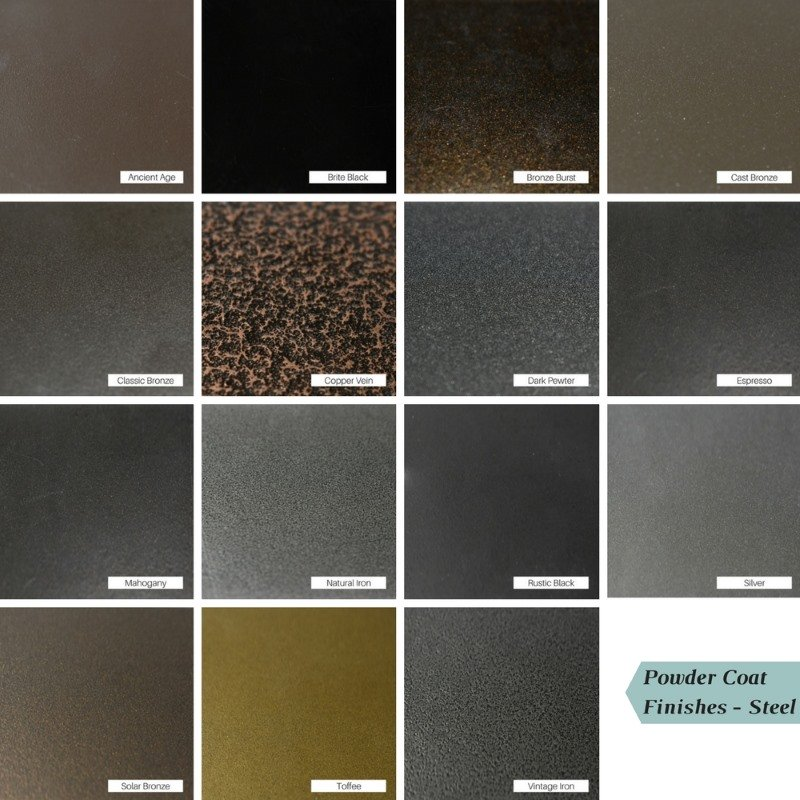 Design Specialties Steel Powder Coat Finishes