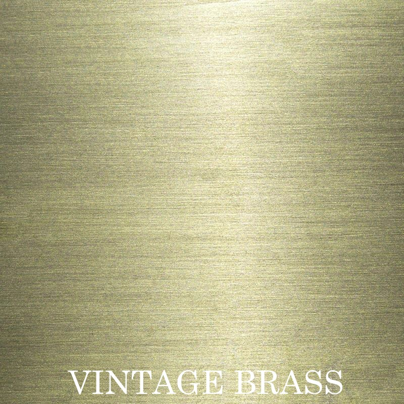 Vintage Brass anodized finish