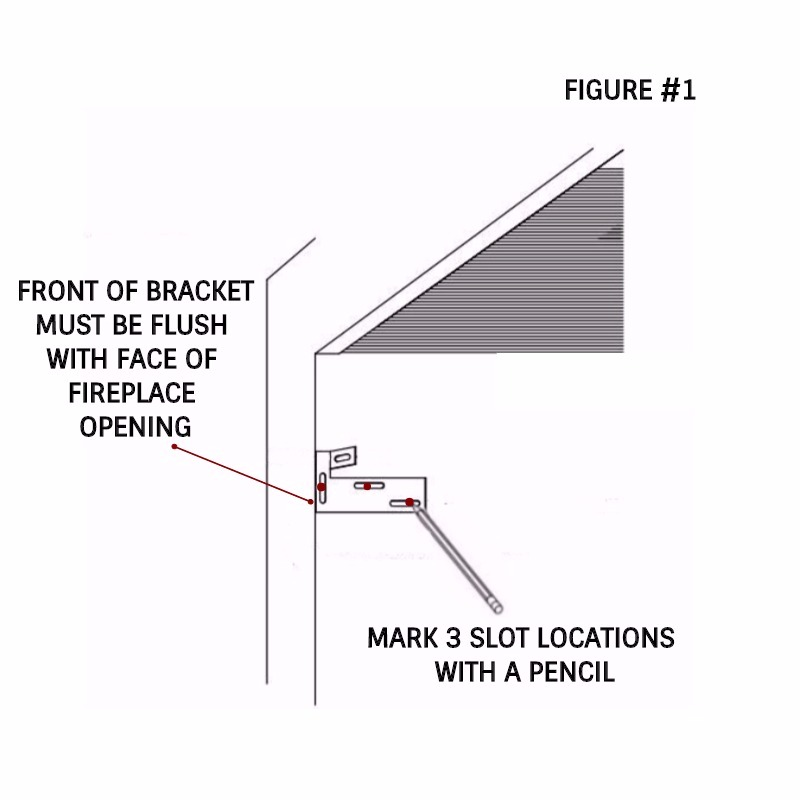 Marking bracket slots with a pencil