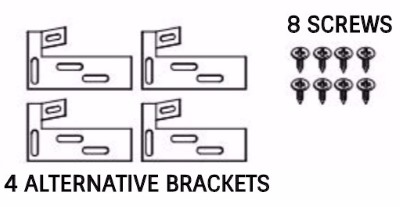 Alternative bracket hardware for factory built fireplaces