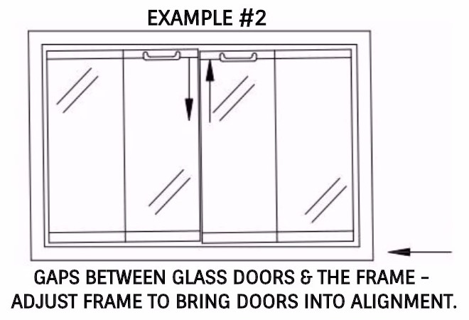 Gaps between doors & frame