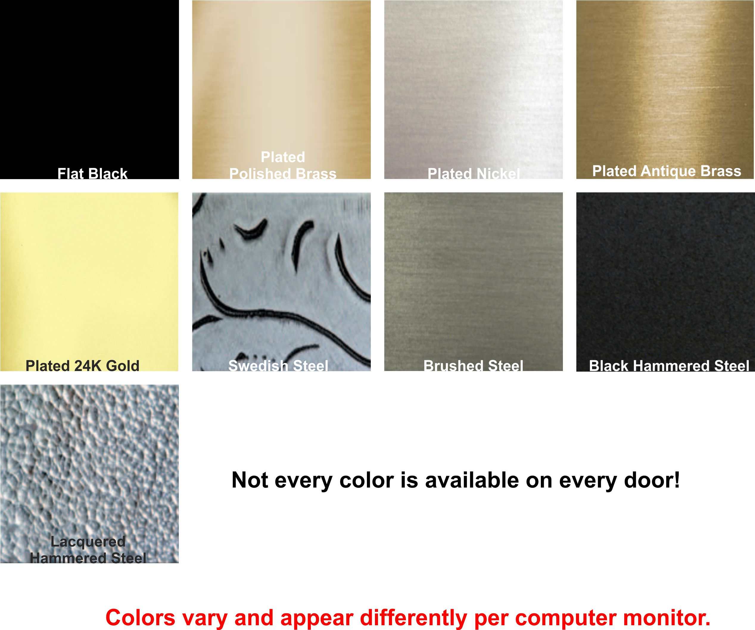 Which finish would you like for the main part of the fireplace door frame?