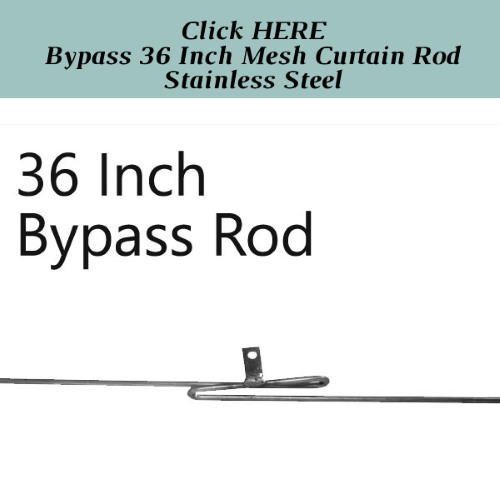 Angled Mesh Curtain Rod 32-58 Inches