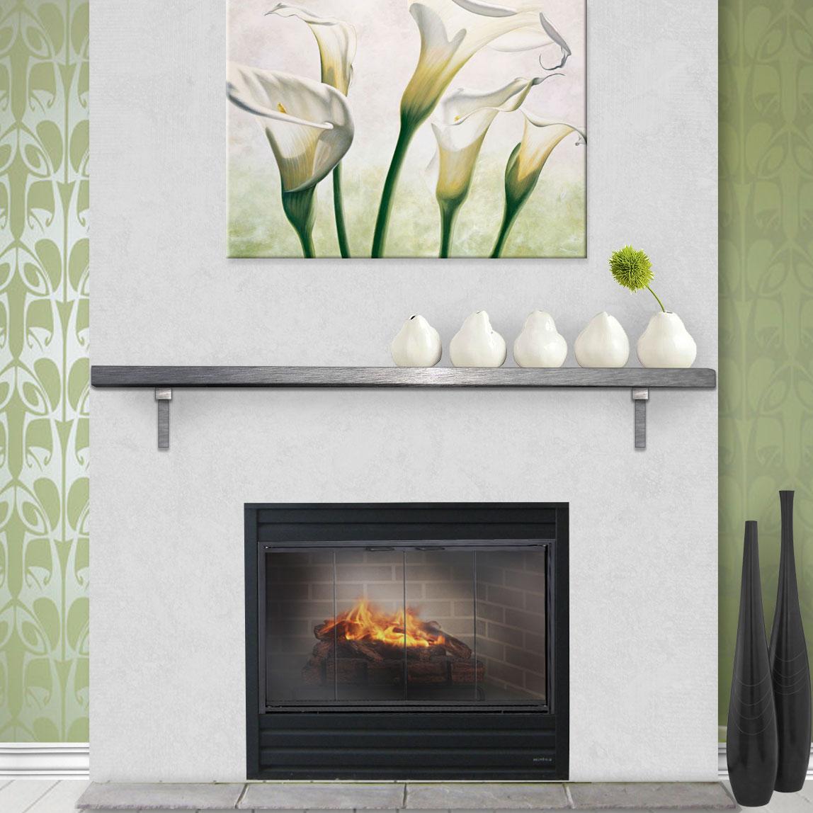 Glass Fireplace Mantel Shelf