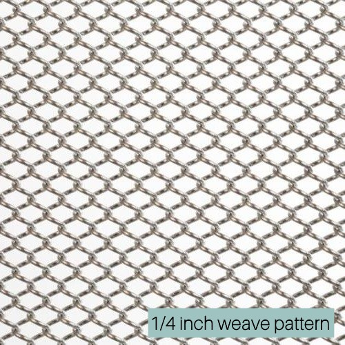 1/4 inch weave pattern for aluminum shower curtains