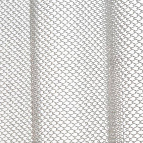Brite Pearl Grey mesh shower curtain