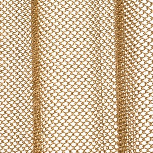 Satin Gold mesh shower curtain