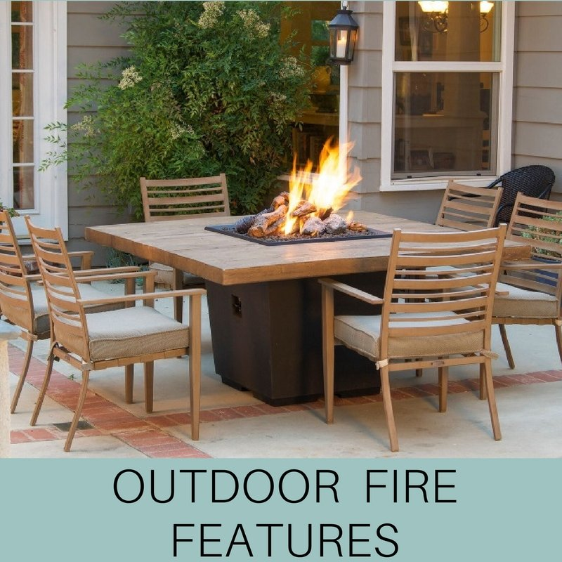 outdoor fire features