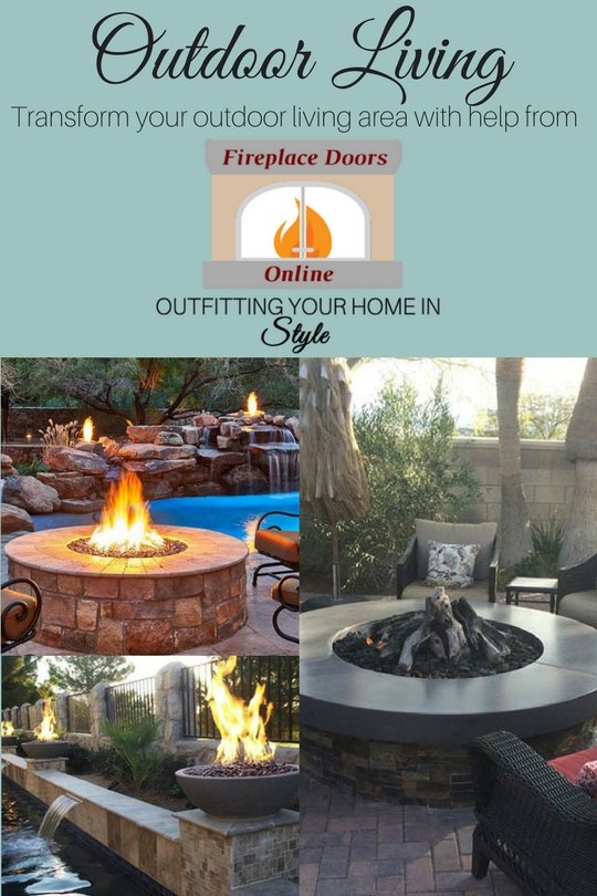 Outdoor Living: transform your outdoor living area with help from Fireplace Doors Online! Outfitting your home in style!