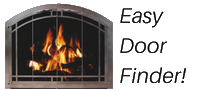 Easy fireplace door finder