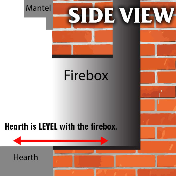 Is your hearth level with your firebox?