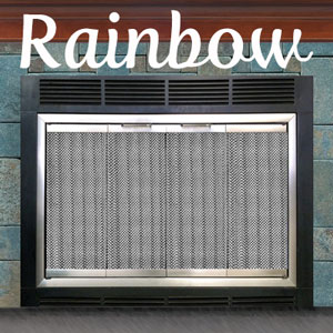 Rainbow Zero Clearance Fireplace Door