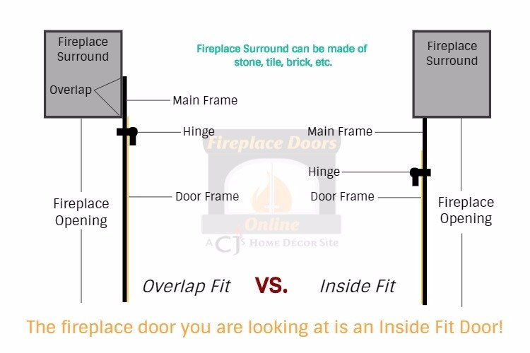 Select the door fit for your fireplace door.