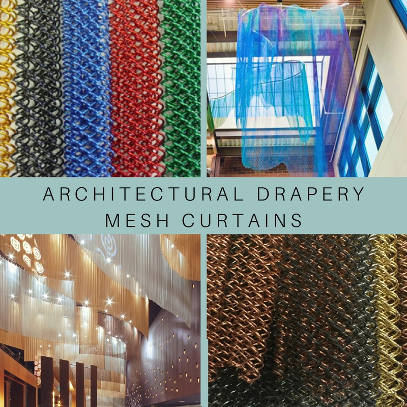 Get custom made architectural drapery mesh curtains!