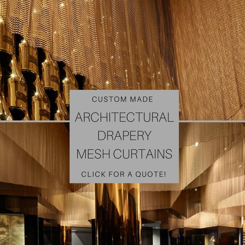 Custom Made Architectural Drapery Mesh Curtains